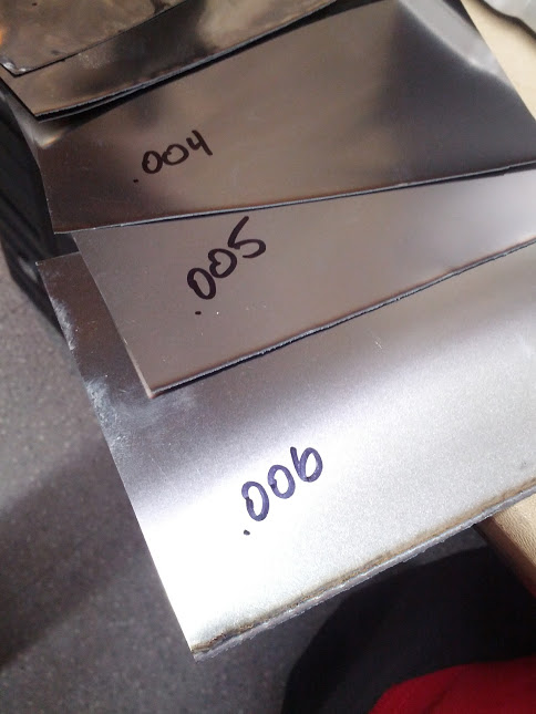"""Test cutting stainless sheet. I could get up to 0.008"""" with three passes!"""